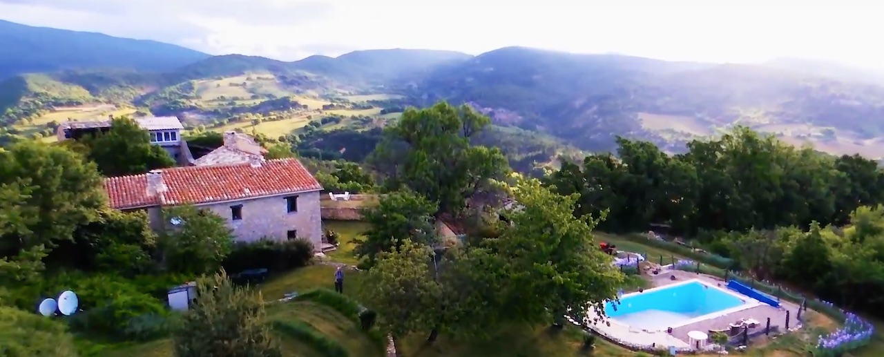 Pic of La Colle Retreats from above