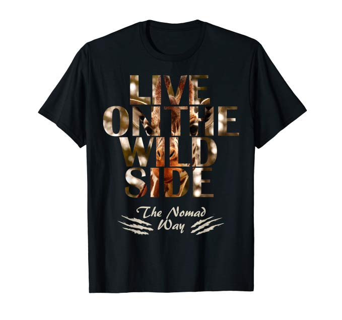 wild side Giraffe ready BB 01 T shirt - Freedom Road Amazon Merch Nomad T-shirts